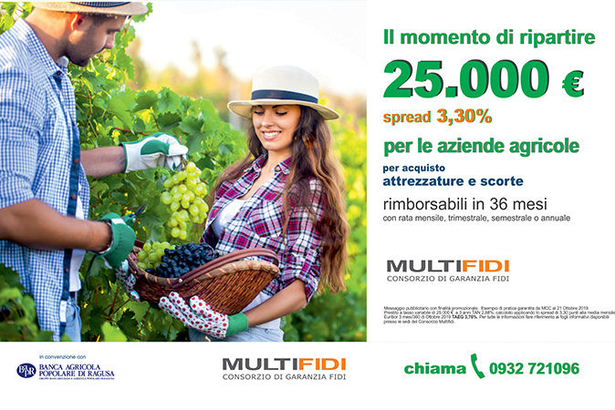 Microfinanza Aziende Agricole per acquisto scorte e attrezzature